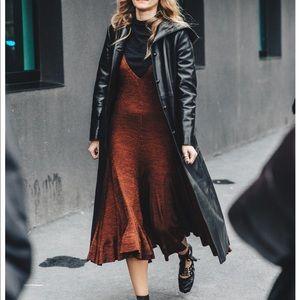 Jackets & Blazers - Vintage fashion leather fur coat